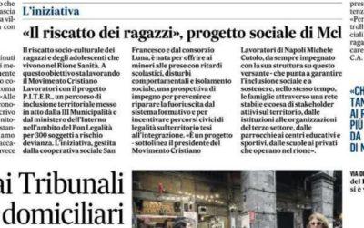 """Il Progetto P.I.T.E.R. oggi nella rubrica """"L'iniziativa"""" de IL MATTINO di Napoli"""