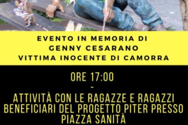 Genny Cesarano si ricorda domenica 6 settembre anche con ragazzi Progetto Piter
