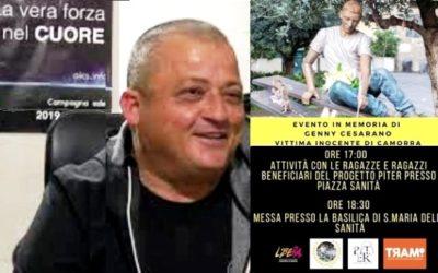 """I ragazzi del Progetto P.I.T.E.R. e """"Libera"""" per ricordare, domenica 6 settembre, Genny Cesarano vittima innocente di camorra"""