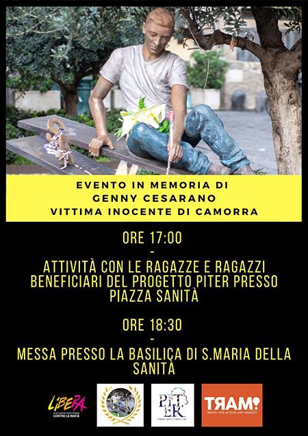 Progetto PITER ricorda Genny Cesarano