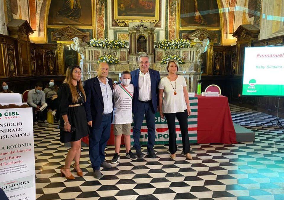 Il baby sindaco al Consiglio Generale UST CISL Napoli dà voce al Rione Sanità