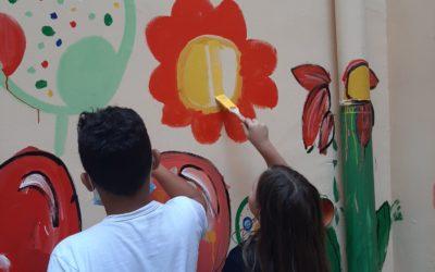 I ragazzi del progetto P.I.T.E.R. street artists per un giorno grazie all'iniziativa #nonsonounmurales.